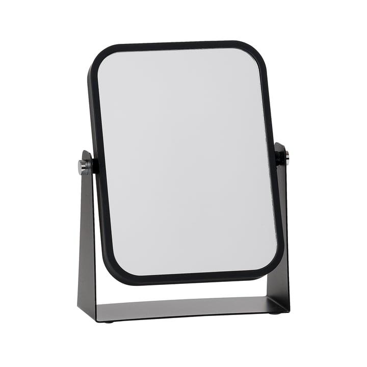 Le miroir de table de Zone Denmark avec 2surfaces miroitantes et effet grossissant, noir