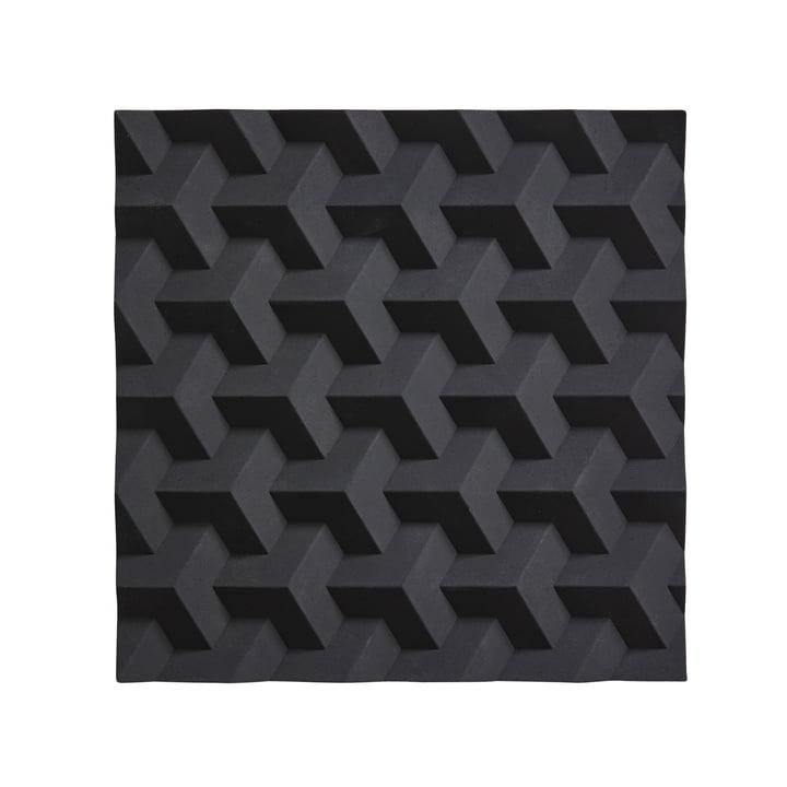 Dessous de plat Origami Fold par Zone Denmark en noir