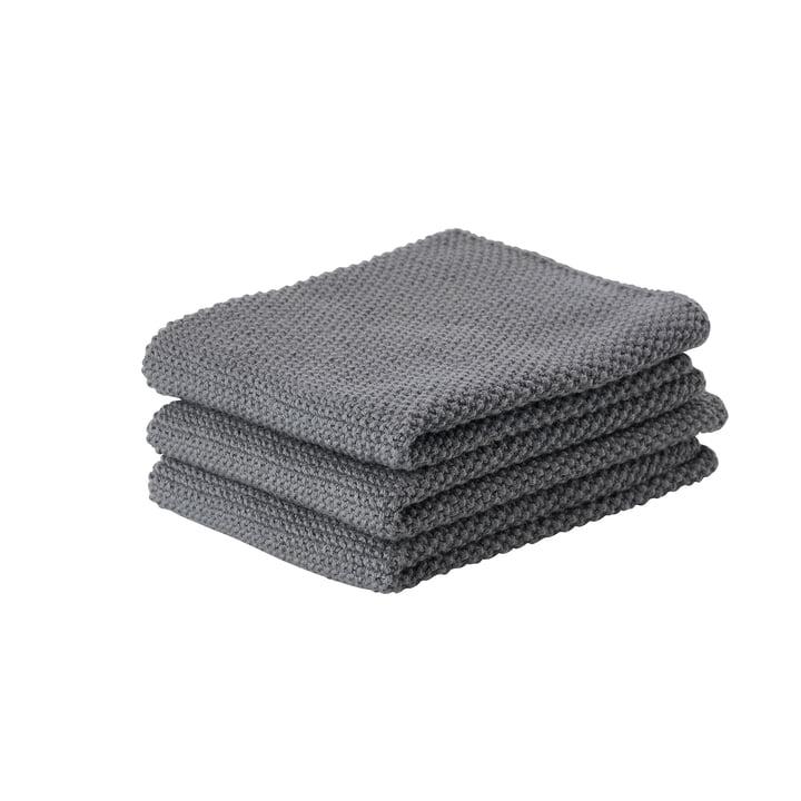 Zone Denmark - Le chiffon de nettoyage, 27 x 27 cm, gris clair (lot de 3)