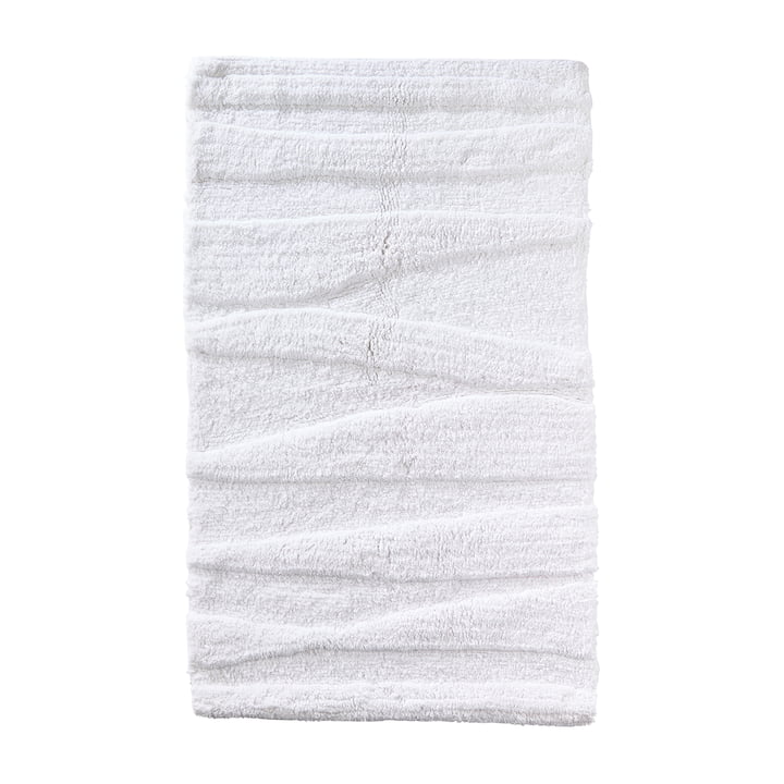 Le tapis de salle de bains Flow de Zone Denmark, 80x50cm, blanc