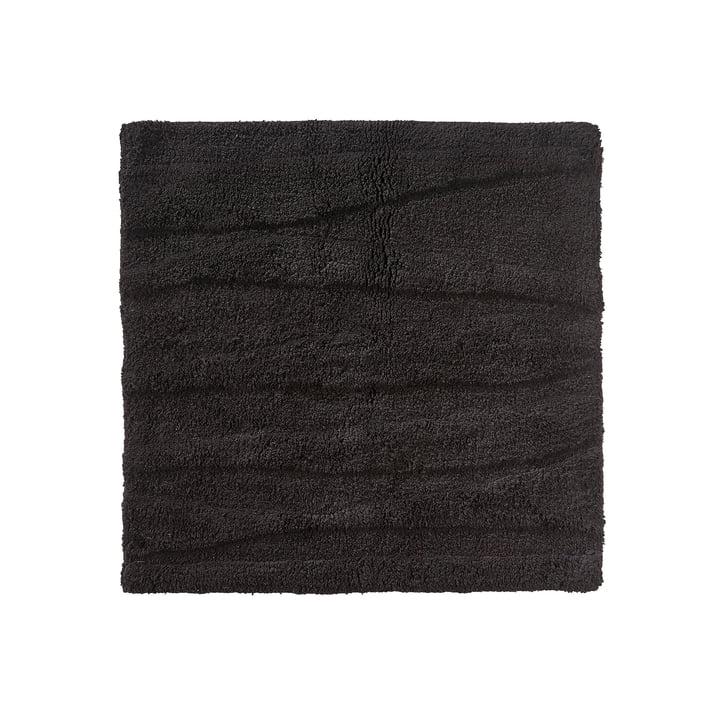 Le tapis de salle de bains Flow de Zone Denmark, 65x65cm, noir
