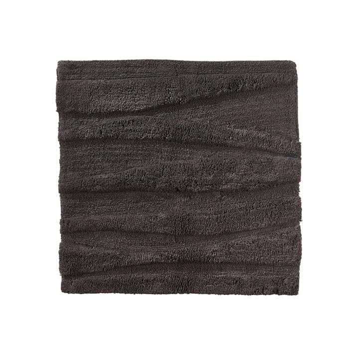 Le tapis de salle de bains Flow de Zone Denmark, 65x65cm, anthracite