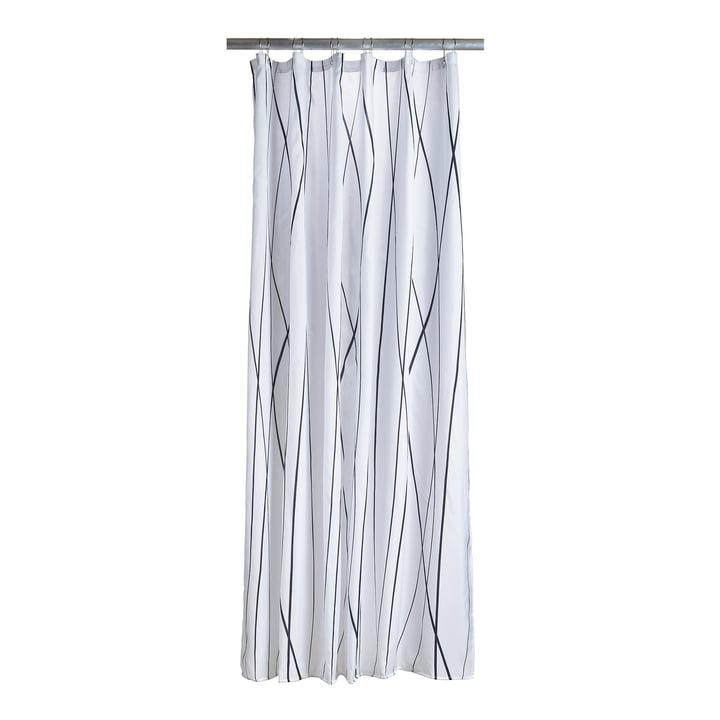 Le rideau de douche Flow de Zone Denmark en noir / blanc
