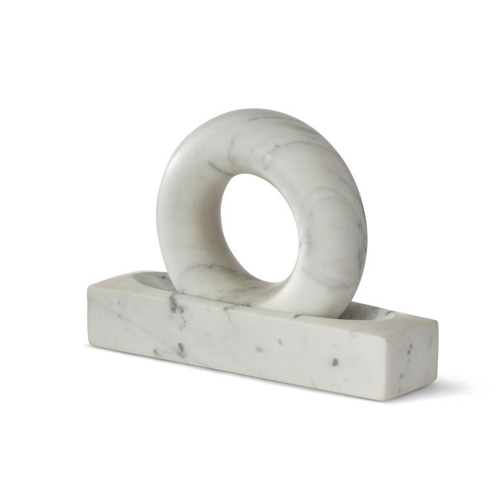 Mortier Tondo de Design House Stockholm en marbre blanc