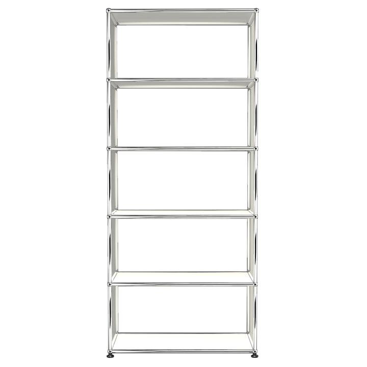 L'étagère S à 5niveaux, blanc pur (RAL 9010) de USM Haller