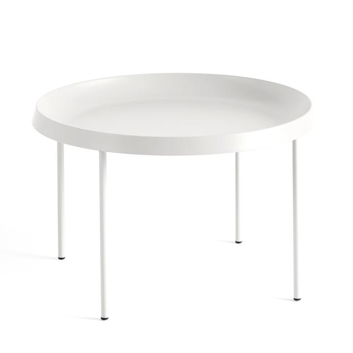 La table d'appoint Tulou de Hay, Ø55xH35cm, blanc cassé