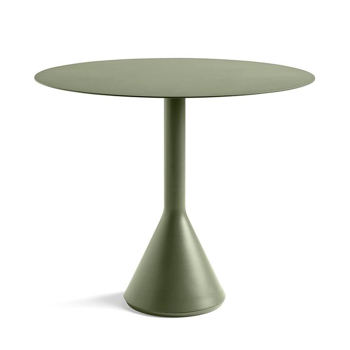 Table Palissade Cone Ø90xH74cm par Hay en olive
