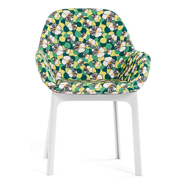 Chaise Clap Stuhl 4182 par Kartell en blanc / ninfea