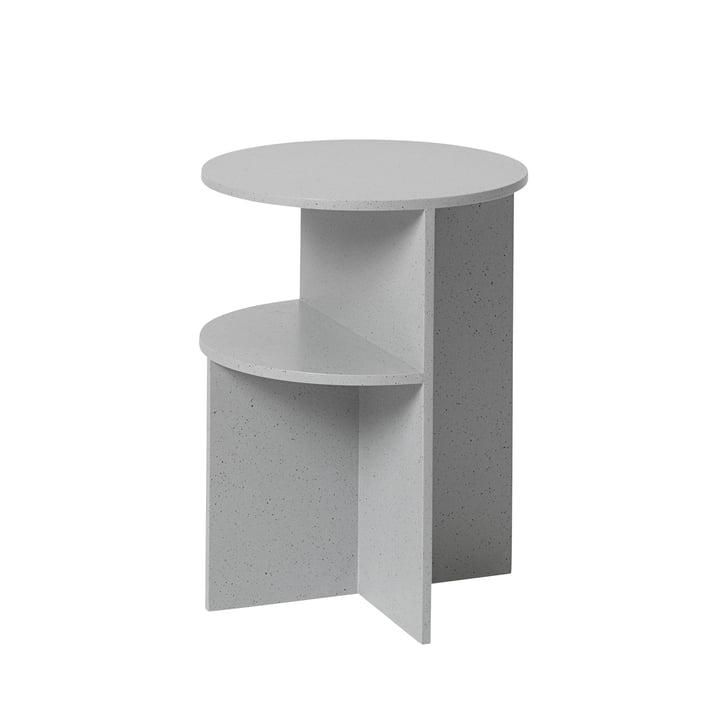 Table d'appoint Moitiés Ø35,5cm par Muuto en gris