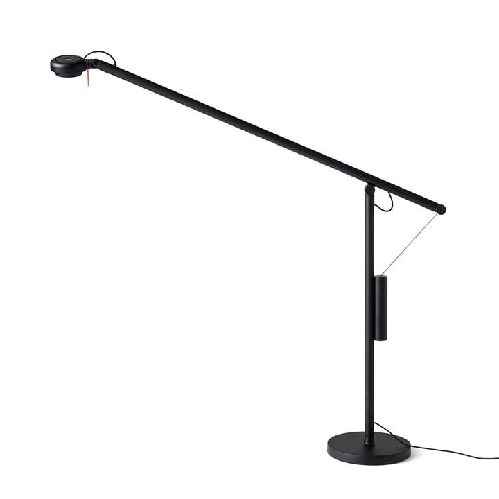 Lampe de table LED Fifty-Fifty avec pied par Hay en noir de sécurité (RAL 9004)