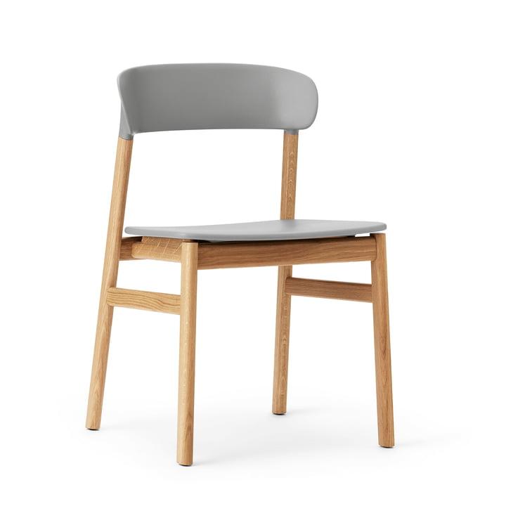 Normann Copenhagen - chaise Herit, chêne / gris