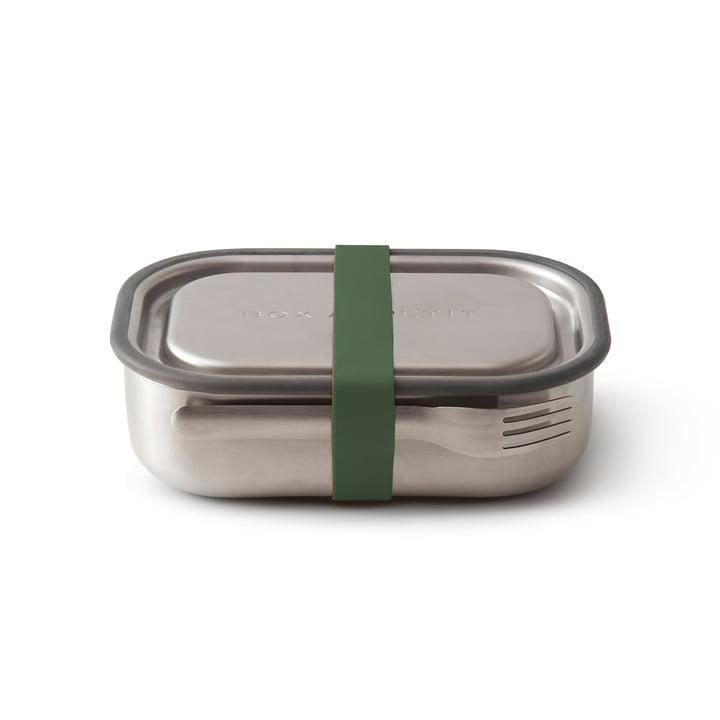 La lunch Box en acier inoxydable de Black + Blum en olive