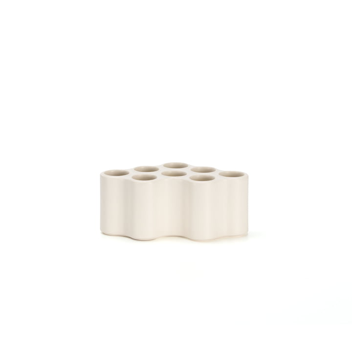 Le vase Nuage céramique de Vitra, S en blanc
