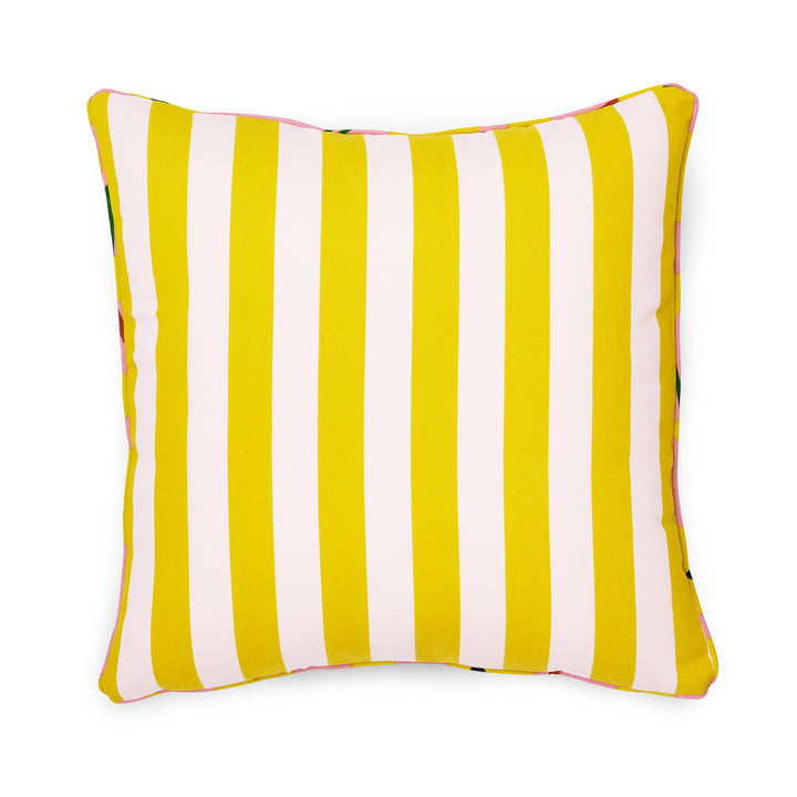 Le coussin Posh 50 x 50 cm, Keep It Simple, rose pâle / citron curry de Normann Copenhagen