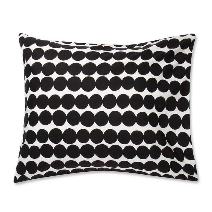 Le Marimekko - Taie d'oreiller Räsymatto 80 x 80 cm en noir / blanc
