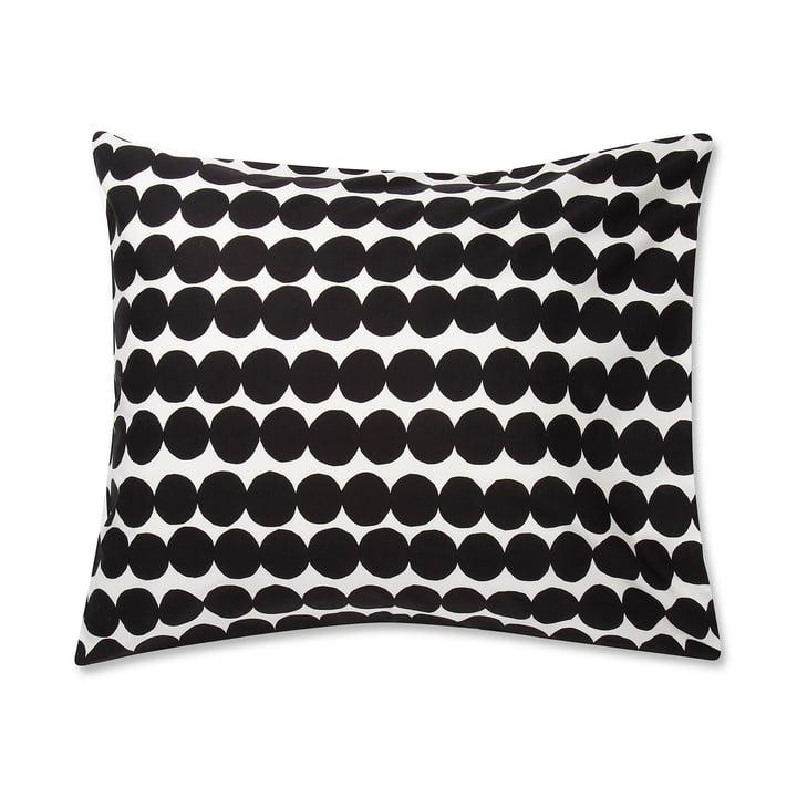 La taie d'oreiller Marimekko - Räsymatto 65 x 65 cm en noir / blanc