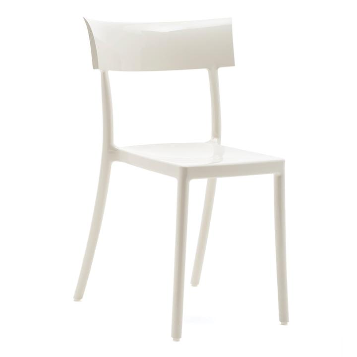 La chaise Catwalk de Kartell en blanc