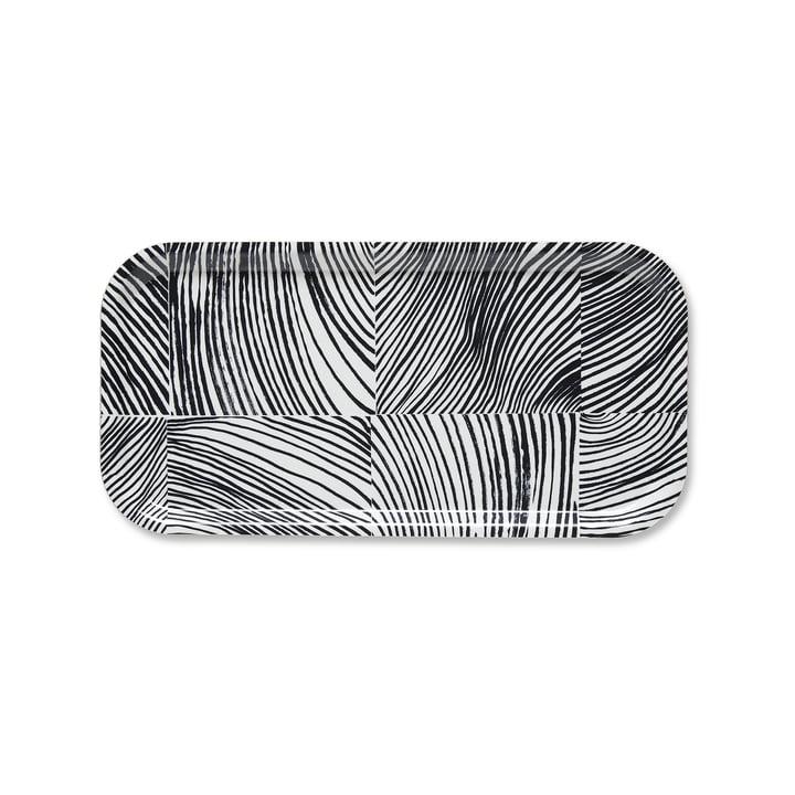 Le plateau Kubb 43 x 22 cm de Marimekko en blanc / gris foncé