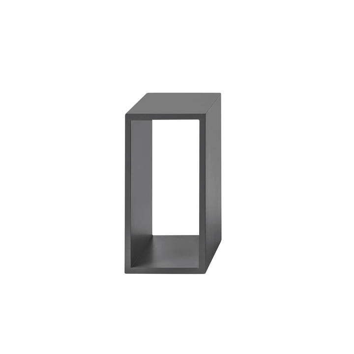 Le Muuto - Module d'étagères empilables 2. 0 sans panneau arrière en petit / gris