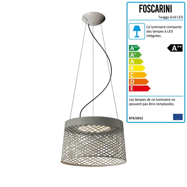 Foscarini - Twiggy Grid LED Twiggy Grid, grège