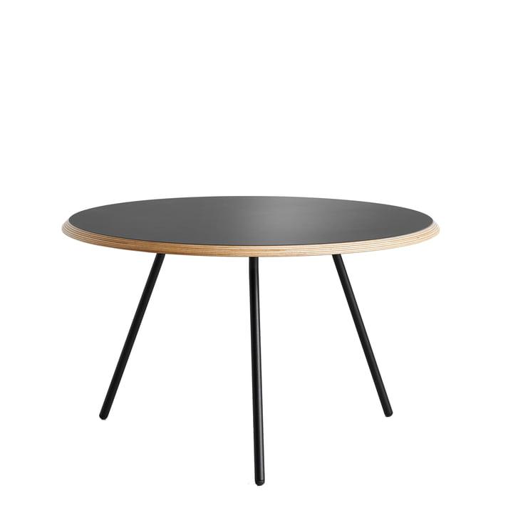 Woud - Table d' Soround appoint H 39,5 cm / Ø 60 cm, stratifié noir (Fenix)