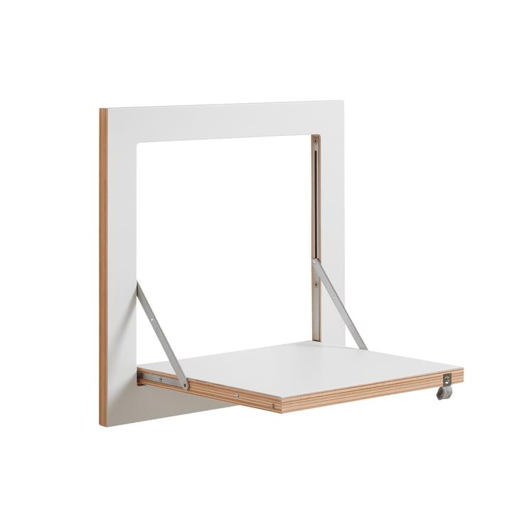 Ambivalenz - Etagère Fläpps, 40 x 40 cm, 1 étagère, blanc