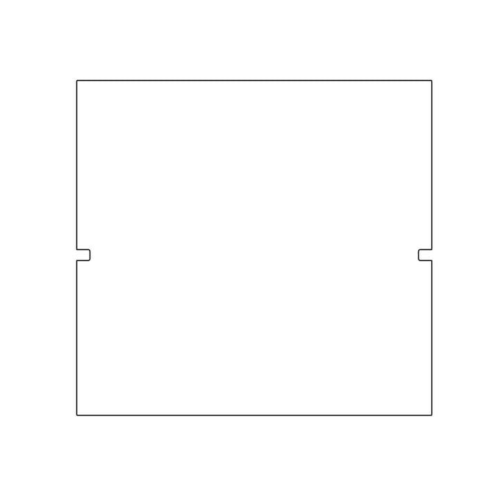 Plattenbau, blanc - panneau arrière 40 cm, hauteur de compartiment 40 cm