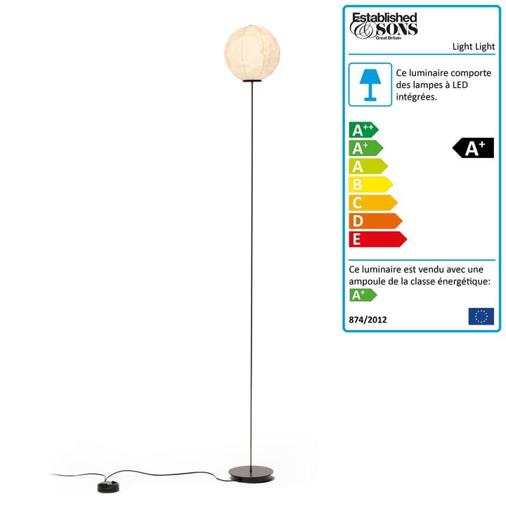 Established & Sons - Lampadaire Light Light F1, H 140 cm, off-white