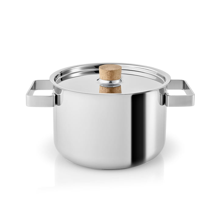 Marmite de cuisine nordique 3 l par Eva Solo en acier inoxydable / chêne