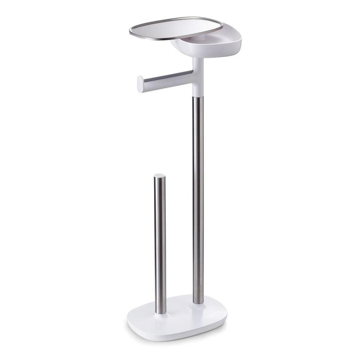 Joseph Joseph - EasyStore Porte-rouleau de papier toilette, acier inoxydable / blanc