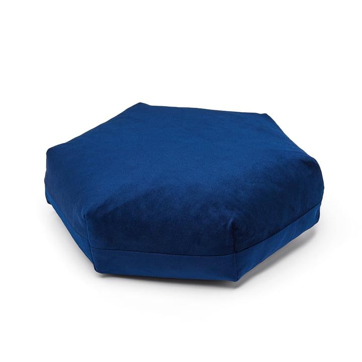 Puik - Coussin hexagonal Plus, 41 x 36 cm, bleu foncé