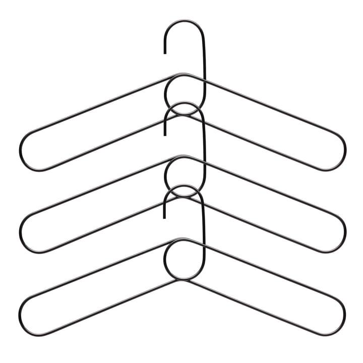 Cintre à boucle (lot de 3), noir de Puik