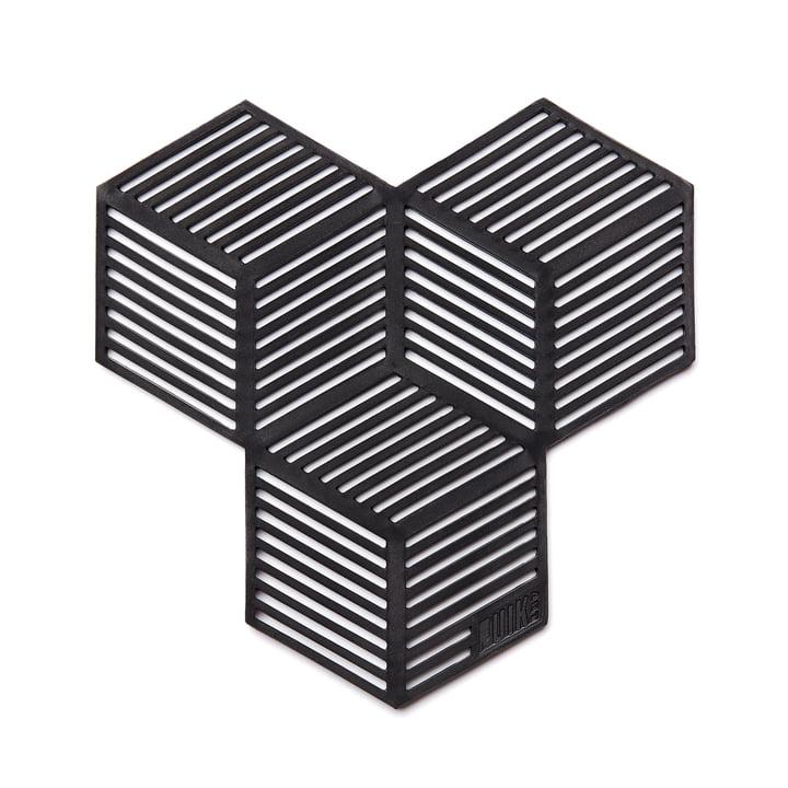 Dessous de verre Sico (ensemble de 4), noir de Puik