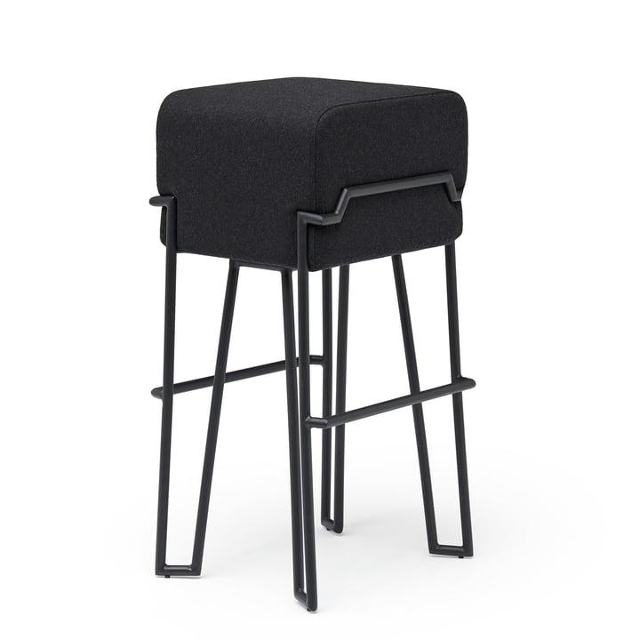 Bokk Tabouret de bar H 76 cm, noir / noir de Puik