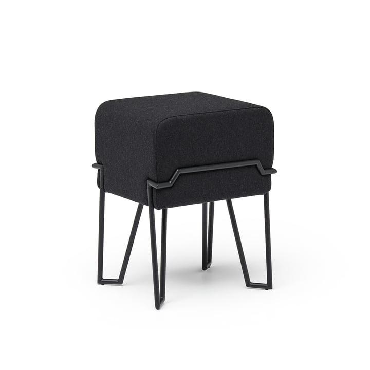 Tabouret de bokk H 46 cm, noir / noir par Puik