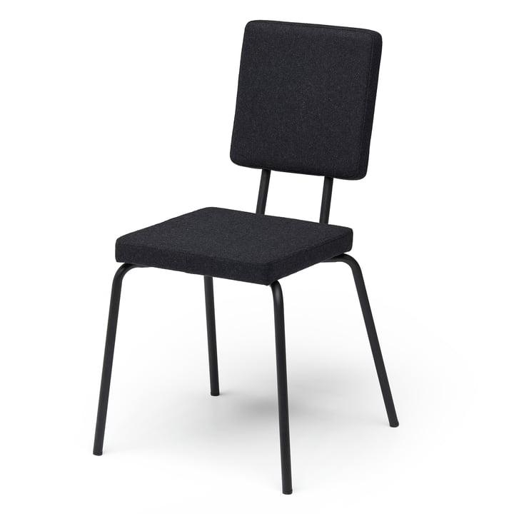 Option chaise, assise et dossier carré de Puik en noir / noir