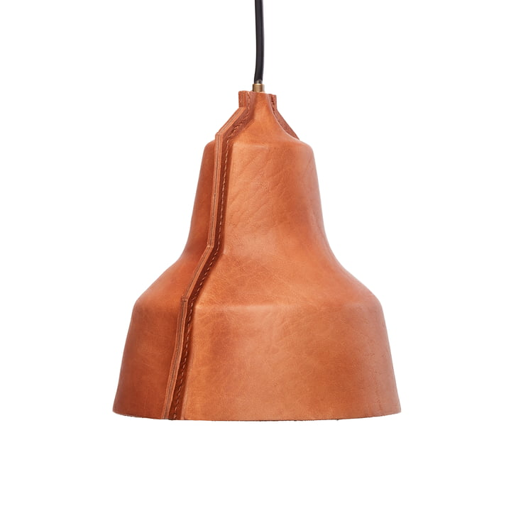 Suspension Lloyd de Puik - Ø 24 x H 25 cm en cuir brun