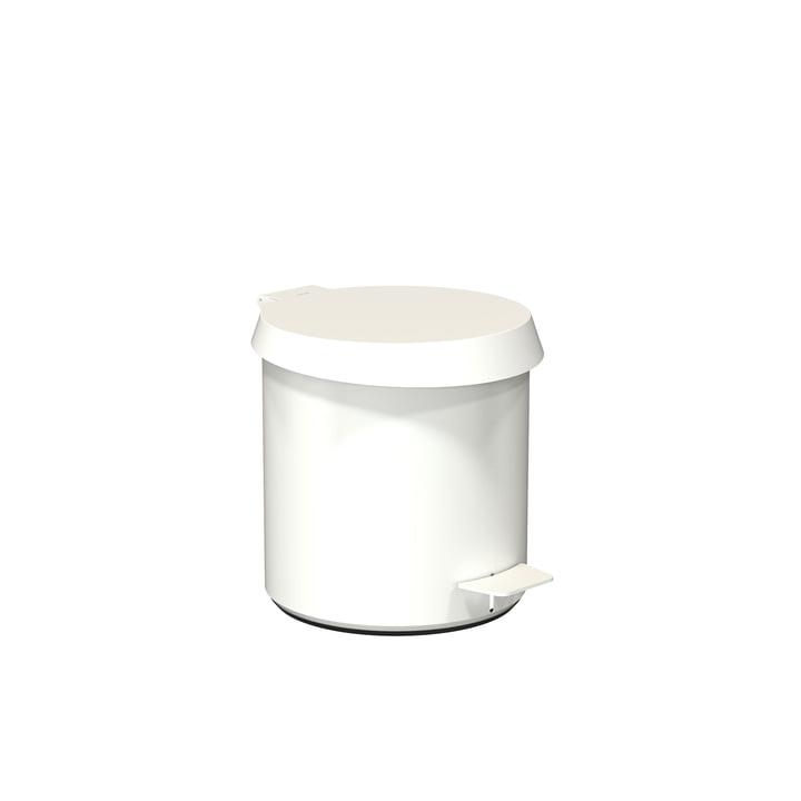 Poubelle à pédale 250 en blanc de Frost