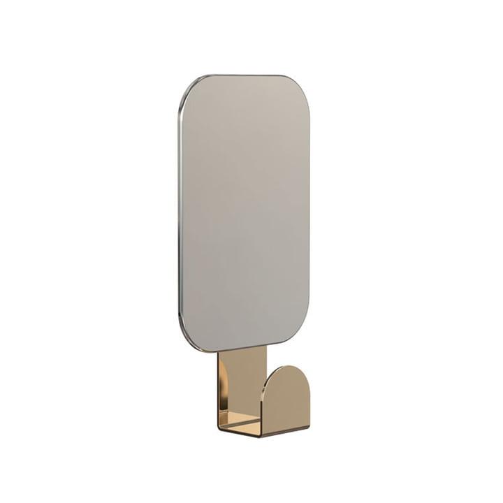 Miroir U4121 avec crochet en rectangulaire / or de Frost