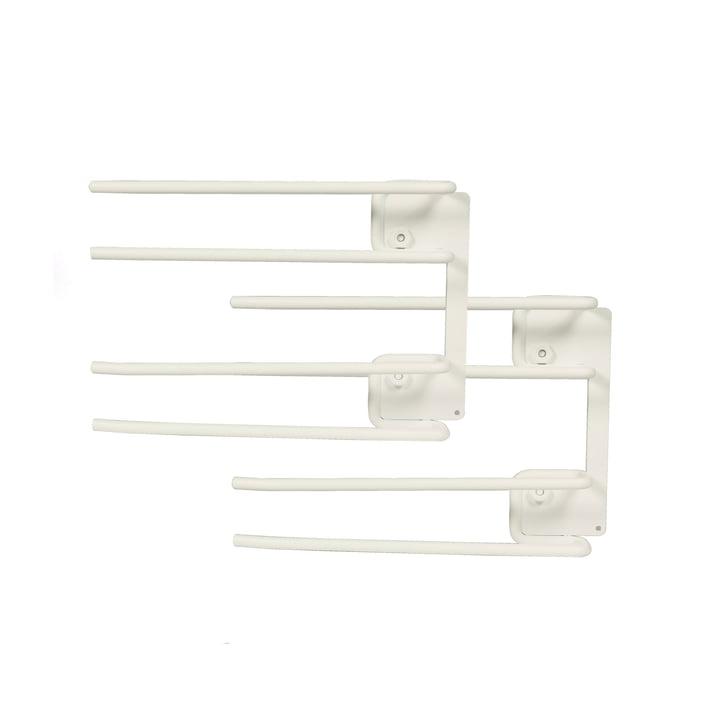 String - Module de support de cintre pour verres à vin, 16 x 20 cm, blanc (lot de 2)