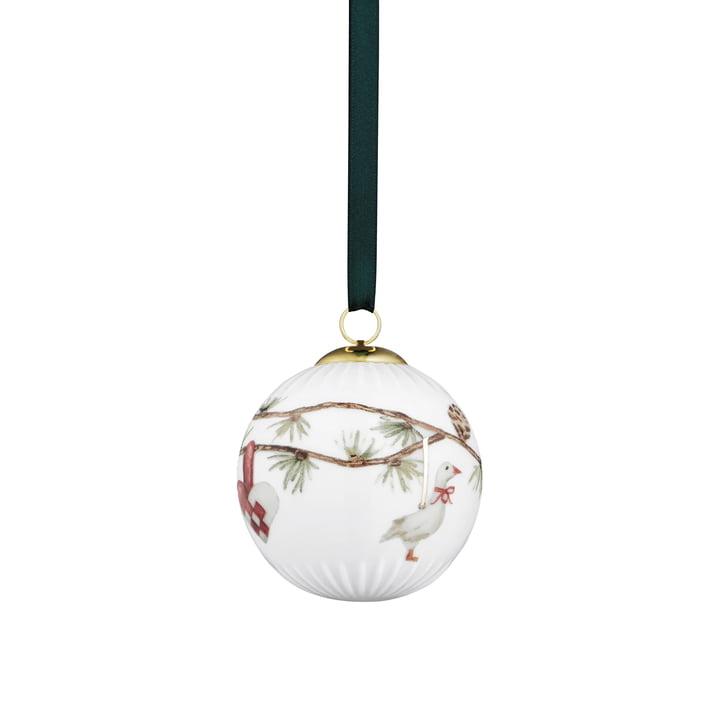 Die Kähler Design - Boule Hammershøi deco Ø 6 cm, blanche avec décoration