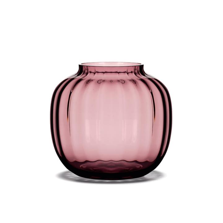 Vase Primula H 12,5 cm en prune de Holmegaard