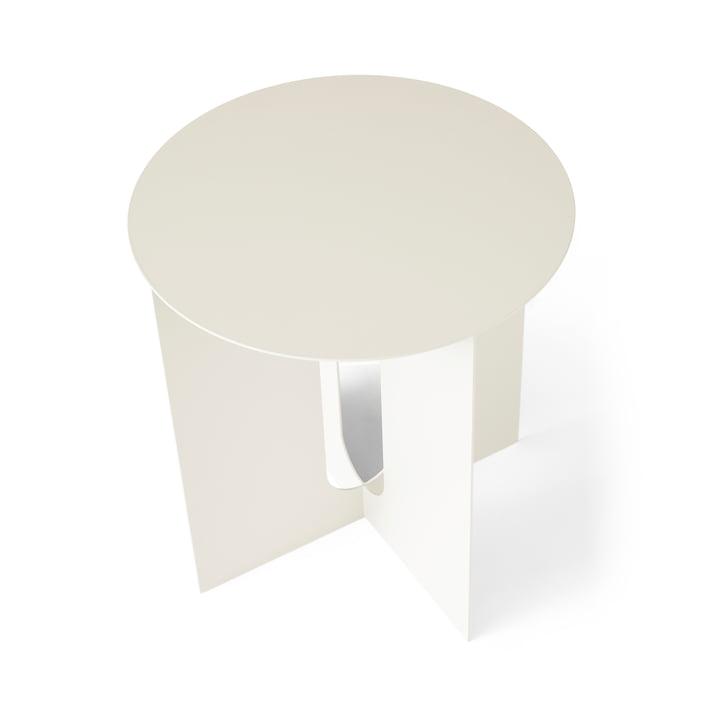 Table d'appoint androgyne Pied Menu en ivoire