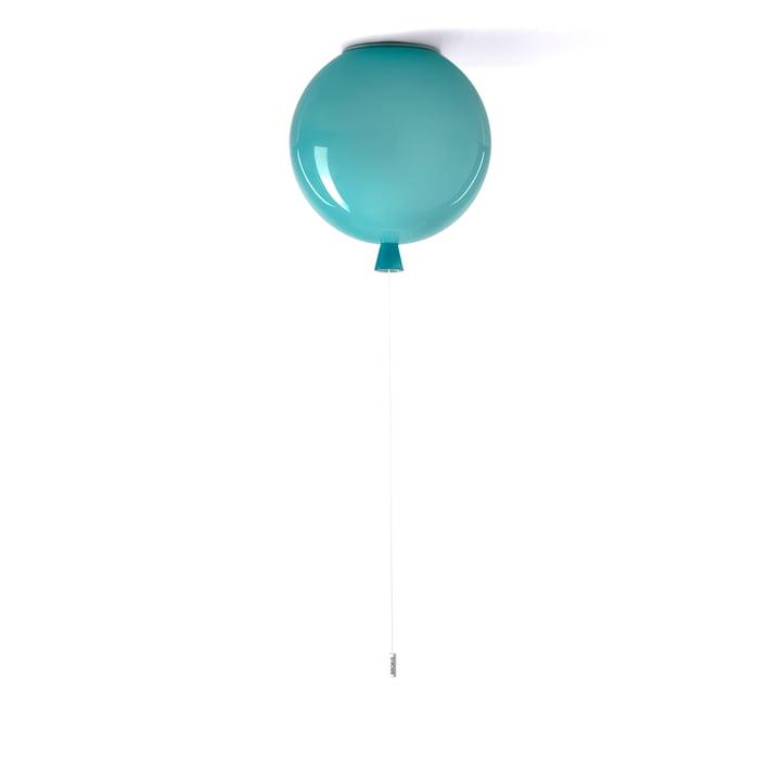 Plafonnier à mémoire Brokis - Ø 30 x H 32,5 cm, turquoise / câble blanc