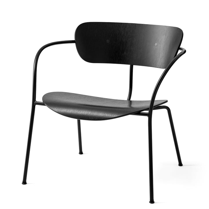 Pavillon Loungechair AV 5 de & tradition en noir / chêne laqué noir