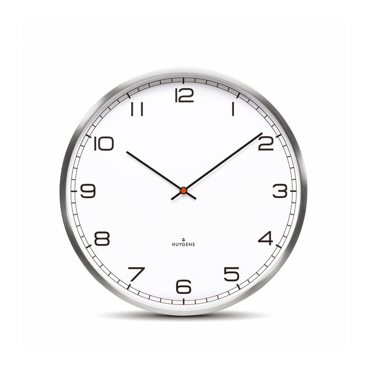 Horloge murale One35rc de Huygens, cadran (avec chiffres)
