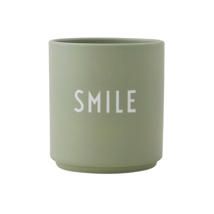 Mug en porcelaine AJ Favourite Smile de Design Letters