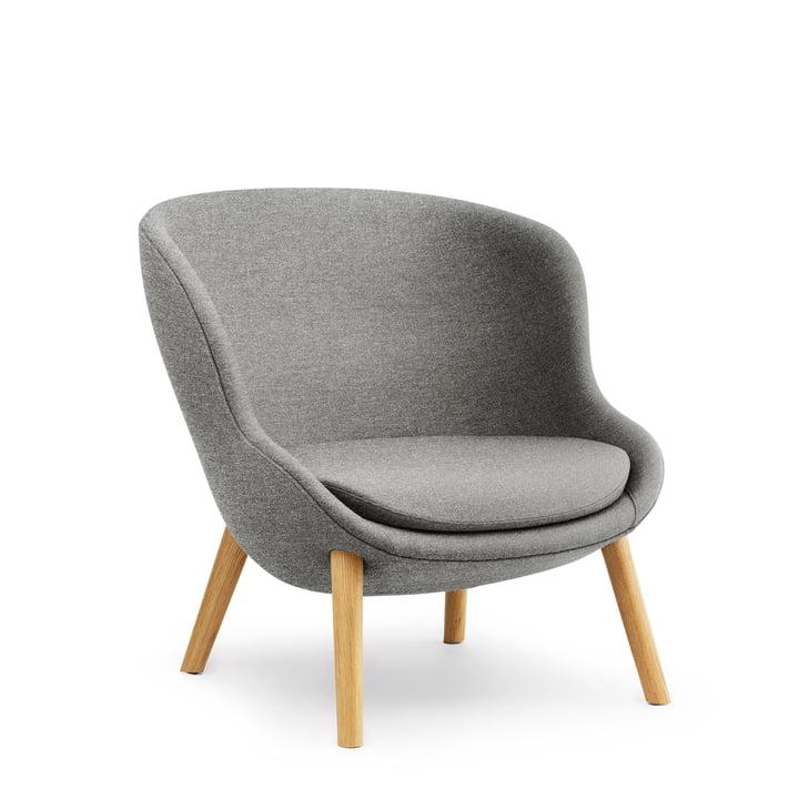 Hyg Lounge Chair Low by Normann Copenhagen - chêne / gris (Lin MLF26)