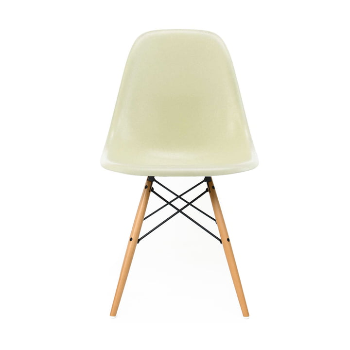 Eames Fiberglass Side Chair DSW by Vitra - Érable jaunâtre / Parchemin Eames