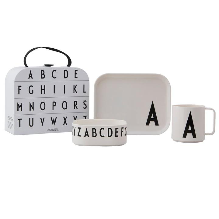 Service de vaisselle pour enfants avec étui A de Design Letters